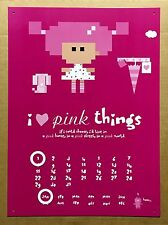 I Love Pink Things - Tin Metal Perpetual Calendar