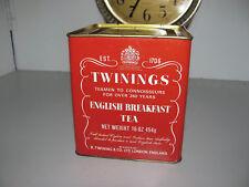 Vintage Twinings English Breakfast Tea Tin 16oz 454g Harder To Find Larger Tin
