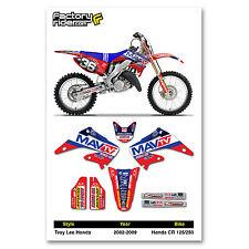 2002-2008 HONDA CR 125-250 MAVTV Dirt Bike Graphics kit Motocross Graphics Decal