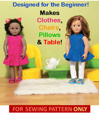 SEWING PATTERN! MAKE DOLL CLOTHES! FIT AMERICAN GIRL MCKENNA~GRACE! LEARN TO SEW
