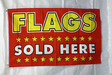 FLAGS SOLD HERE flag 3'x5' banner store concession business advert FREE SHIPPING