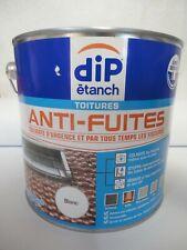 DIP ETANCH TOITURES ANTI-FUITES COLMATE D'URGENCE LES FISSURES BLANC 2,5L