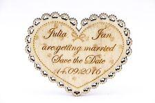 Save the Date, Magnet, Holz Hochzeit Einladung, Hochzeit Karte Laser graviert