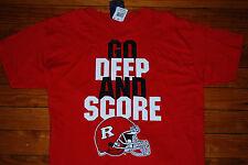"NEW Rutgers University ""Go Deep and Score"" NCAA Football T-Shirt (Medium)"