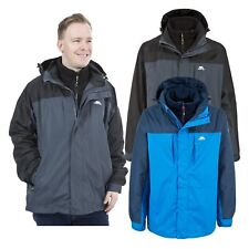 Trespass Faris Mens 3 in 1 Waterproof Jacket with Inner Fleece and Hood