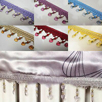 Curtain Tassel Sewing DIY Craft 1 meter Crystal Bead Trim Decoration Accessory m