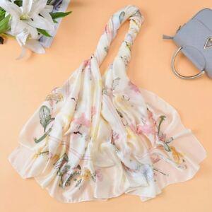 Women Large Silk Scarf Big size dancer print Foulard Luxury Bright Long Sha