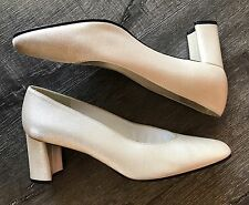 8B Stuart Weitzman Womens Chunky Pumps Slipons Heels Shoes Metallic