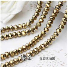 Wholesale 100pcs Crystal Glass Faceted Rondelle Loose Spacer Beads 6mm