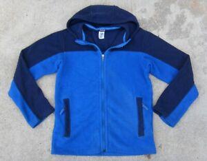 Patagonia Hooded Fleece Jacket Boy's Sz  XL 14 Blue & Navy