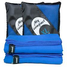 cosey – 2x Mikrofaser Reise-/Sporthandtuch Badetuch in blau – Trekking Camping
