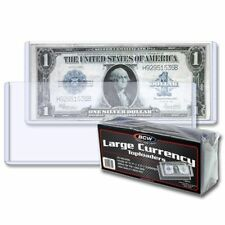 2 packs (50) BCW Large Bill Currency Topload Holders