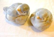 OTAGIRI BIRDS Pair Vintage PORCELAIN BIRD FIGURINES Japan 2 pc