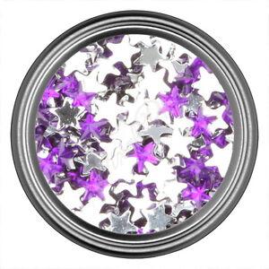 Dark Purple Star Rhinestone Gems Flat Back Face Art Nail Art Jewels Decoration