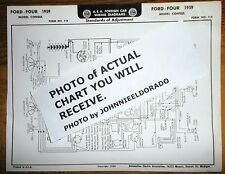 1959 Ford (English) FOUR Series Consul & Prefect Models AEA Wiring Diagram Chart