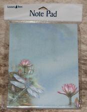 LEANIN TREE Dragonfly Among LillyPads~Note Pad~#63097~Artist Jody Bergsma