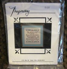Imaginating Mother In Love In Law Counted Cross Stitch Kit Perry Tanksley poem