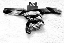 N2N Bodywear Men Black Grey Mod Squad G-string thong underwear Size M L XL