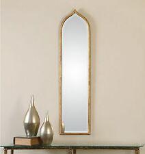 Tall Slim Gold Wall Mirror - Thin Frame