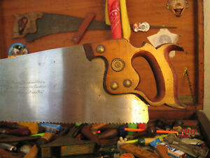 UGLY LITTLE OLD CARPENTER'S PANEL SAW - FOR CUTTING WOOD