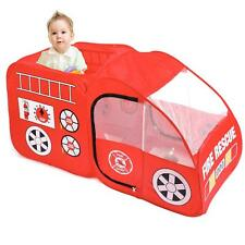 Fire Engine Truck Pop Up Play Tent Foldable Indoor/Outdoor Playhouse for Kids