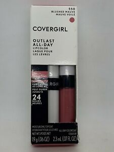 COVERGIRL Outlast All-Day 24HR Color Lipstick + Top Coat 550 Blushed Mauve