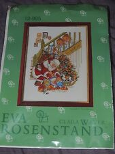 EVA ROSENSTAND CLARA WAEVER CROSS STITCH KIT 12-985 SANTA UNDER TREE 2 CHILDREN