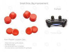 RED Joystick Caps 8pc PS4 Controller 100% Silicone Extender XBOX 360 thumbstick