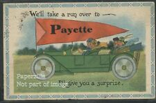 ID Payette LITHO '13 RED PENNANT Automobile CAR Vg+