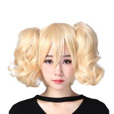 Code Geass Anya Alstreim short blonde wigs 2 ponytails