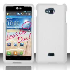 For MetroPCS LG Spirit 4G MS870 Rubberized HARD Case Phone Cover White