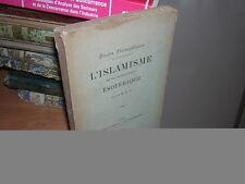 1903.islamisme & enseignement ésotérique.Islam