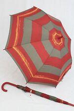 ESPRIT gestreifter Regenschirm Stockschirm  rot gestreift Damenschirm