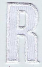 ECUSSON PATCHE  THERMOCOLLANT PATCH LETTRE BLANCHE BLANC R HAUTEUR 5 CM