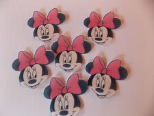 12 Precut Edible Pink Minnie Mouse for cakes and cupcake toppers