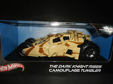 Hot Wheels Batmobile Dark Knight Rises Tumbler Camouflage BCJ76 1/18