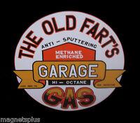 OLD FARTS GARAGE TOOL BOX BEER FRIDGE LOCKER MAGNET