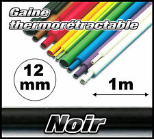 GN12-1# gaine thermorétractable noir 12mm 1m  gaine thermo noir