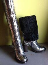 UGG Collection Calandra Classic Tall Over The Knee Sheepskin Cuff Heel Boot US 6