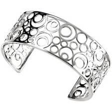 Sterling Silver Bangle Multi Open Circles Silver Cuff Bangle B3174