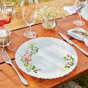 Arcopal By Luminarc Zulme 18pc Flower Opal Glass Dinner Set Dinnerware Plates