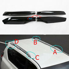 Black Roof Rack Bar End Cover Shell 4P For Toyota Land Cruiser Prado Fj150 10-16