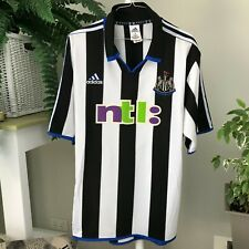 Adidas Newcastle United Home Football Shirt L - NTL  Vintage * Preloved
