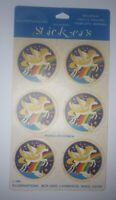 Vintage Pegasus Sticker Decal Planet Rainbow Illuminations 1981 6 Flying Pack