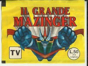 IL GRANDE MAZINGA MAZINGER BUSTINA DI FIGURINE piena e SIGILLATA del 1979