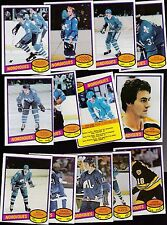 1980 OPC Team SET lot of 13 Quebec NORDIQUES NM- o-pee-chee GOULET FTOREK TARDIF