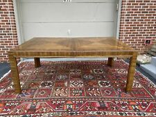 A Vintage Mid Century Drexel Heritage Accolade Campaign Style Dining Table 1970s