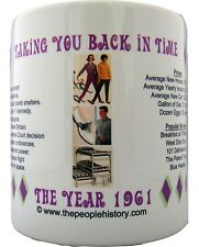1961 Year In History Coffee Mug Includes Gift Box Born In 1961 Birthday Gift