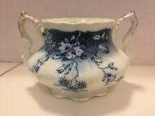 Rare VTG FLOW BLUE CLAYTON Bowl BY JOHNSON BROTHERS Pat Oct 21-02 England