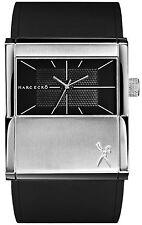 Reloj Marc Eckò E11528G1 de silicona negro caja acero moda todos los tamaños